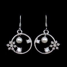 Wild Elegant Silver Pearl Earrings For Women Use 925 Silver Material